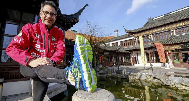 Kai Markus Xiong, 44, starts a 12,000 km journey on March 12 from Hamburg to Shanghai to fight prejudice against China. [Photo: @junki72 Twitter]
