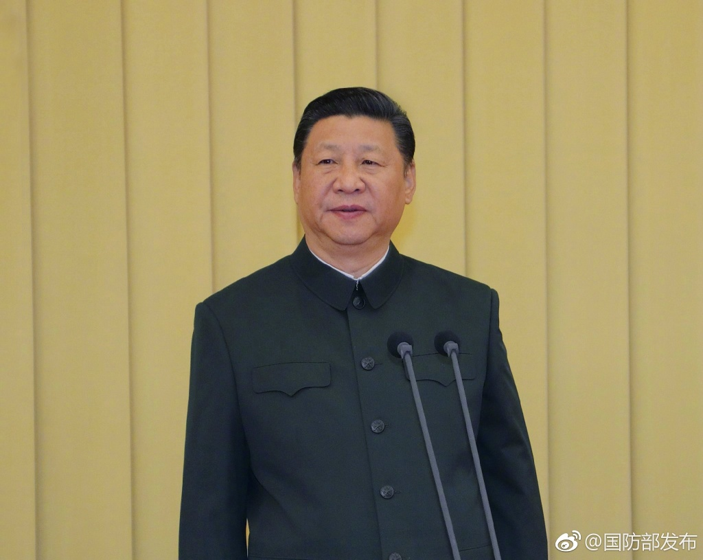 Xi Jinping, chairman of the Central Military Commission, speaks to chief military officers Tuesday in Beijing. [Photo: Ministry of National Defense]