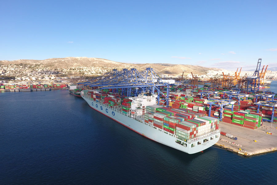 The port of Piraeus in Greece is the convergence point for the China-Europe Land-Sea express lines. [Photo: China Plus]